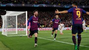 گام بلند بارسلونا به سوی فینال لیگ قهرمانان اروپا