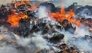 آتشسوزی ضایعات در تهران مهار شد