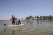 ادامه هدایت سیلاب اطراف آبادان به سمت خلیج فارس