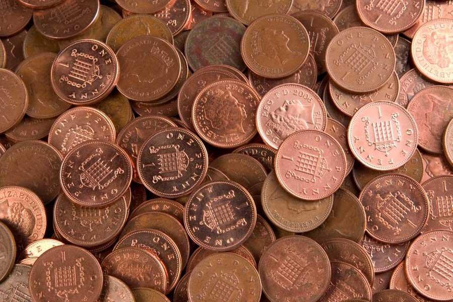 سکه یک پنس انگلیس