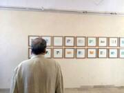 نمایشگاه کرنش به حافظ از گونتر اوکر در موزه هنرهای معاصر کرمان