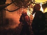 کنترل شدن شدت آتش سوزی در بازار سرپوشیده تبریز