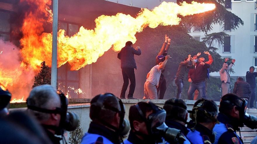 اعتراضات در آلباني