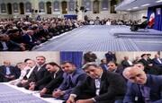 حضور حناچی و اعضای شورا در دیدار رهبر معظم انقلاب اسلامی با مسئولان نظام