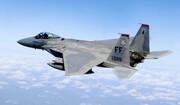 فیلم | نمایش هوایی جت جنگنده اف-۱۵ ایگل