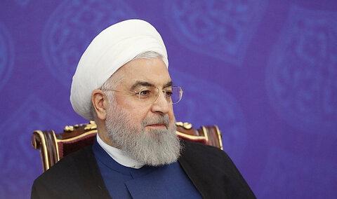 روحانی: قطعاً از رنج و مشکلات مردم خبر دارم | پیروز میدان مبارزه با آمریکا هستیم