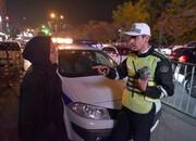 برخورد شبانه پلیس با رانندگان متخلف
