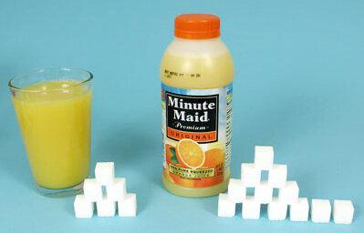 sugary fruit juice