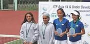 نایب قهرمانی درسا چراغی در مسابقات تنیس دونفره سطح یک آسیا