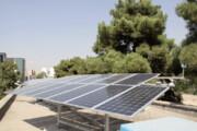 آسمان ابری نیروگاههای خورشیدی در کرمان