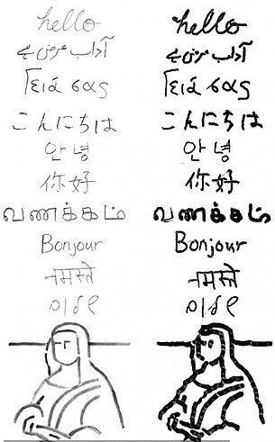 رباتی که «سلام» را به ۱۰ زبان می نویسد