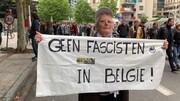 شعار معترضان در برابر پارلمان اروپا: نه به فاشیسم در اروپا