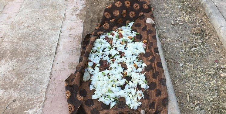 پیکر میترا استاد همسر دوم محمد علی نجفی در بهشت سکینه کرج به خاک سپرده شد
