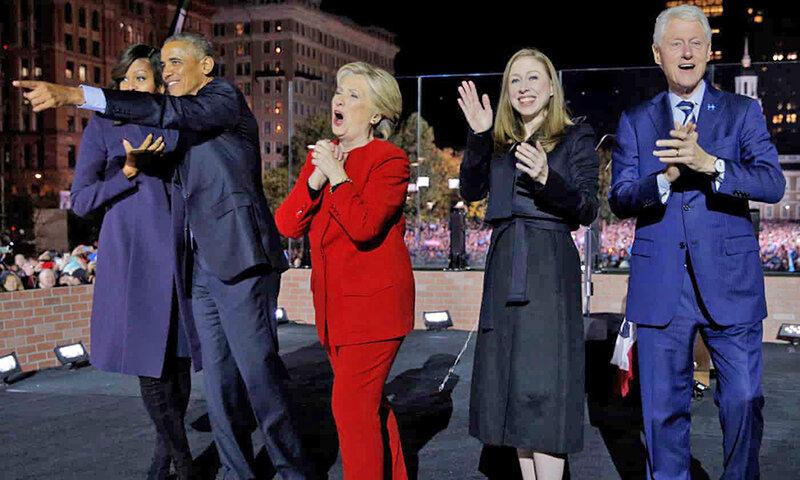 خانواده كلينتن و خانواده اوباما