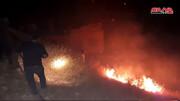 رژیم صهیونیستی مزارع جولان را به آتش کشید