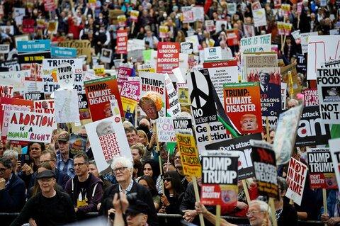 دو عکس | اعتراض علیه ترامپ