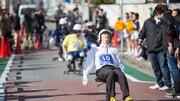 ویدئو | مسابقه راندن صندلی چرخدار اداری