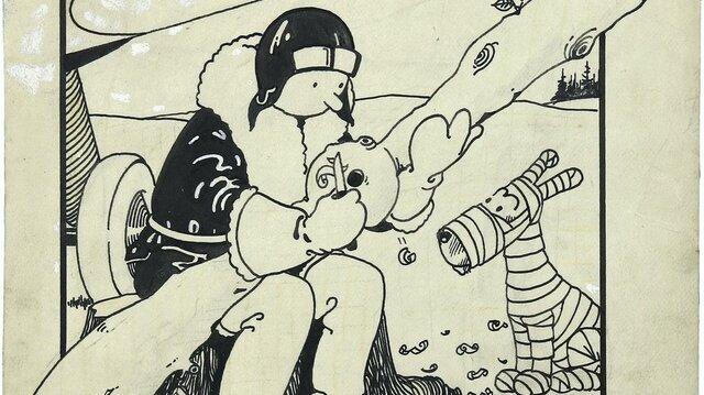 نخستين نقاشی «تنتن» بيش از يك ميليون دلار فروخته شد