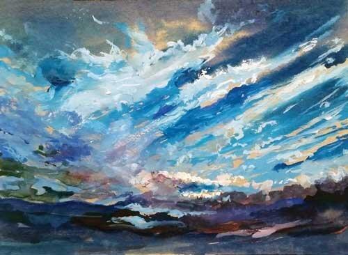 ابرهای آسمان آبی