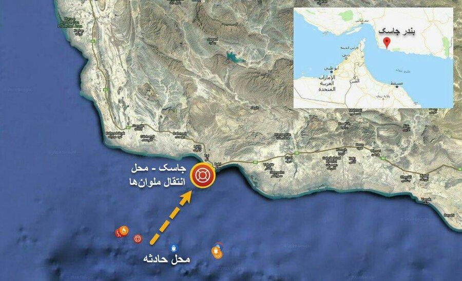 اعزام شناورها و بالگردهای ارتش جهت کمک به خدمه کشتیهای حادثه دیده در دریای عمان