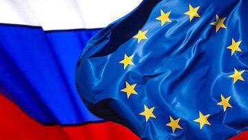 پرچم هاي روسيه و اتحاديه اروپا