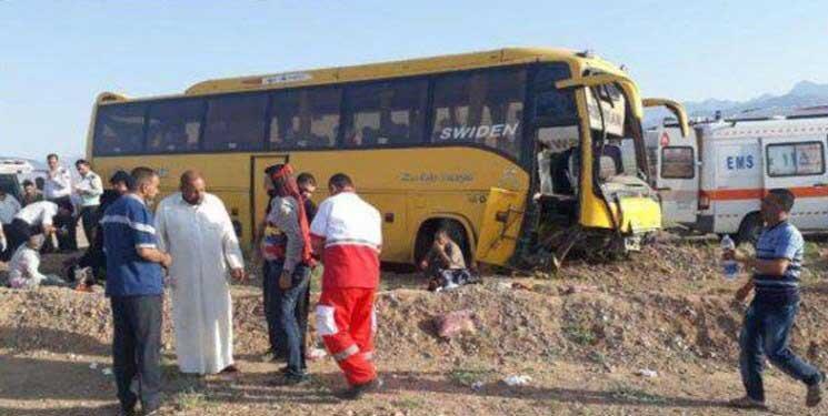 واژگوني اتوبوس زائران