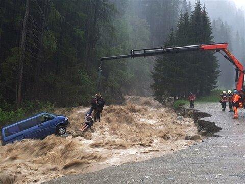 نجات؛ سیل در سوئیس