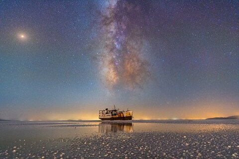 © Masoud Ghadiri (Iran), Sharafkhaneh port and lake Urmia