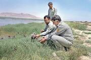 نجات جوجه فلامینگوهای حاشیه تالاب بختگان