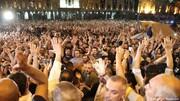 تظاهرات در گرجستان علیه روسیه دهها زخمی برجا گذاشت