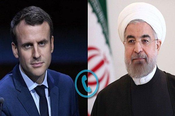 روحانی:آمریکاتنش راتشدیدمیکند/مکرون:اقدامات آمریکامصرف داخلی دارد