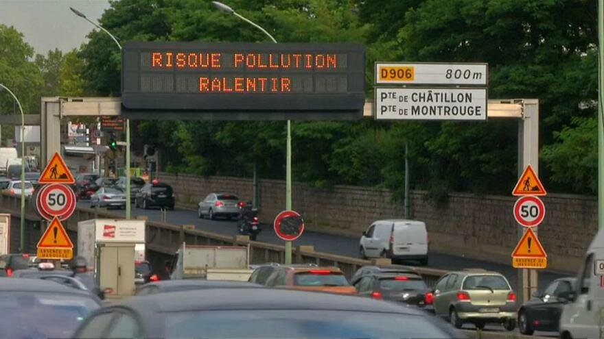 آلودگي هوا در فرانسه