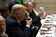 پوتین در ضیافت شام  گروه ۲۰ از فلاسک همراه خودش چای خورد