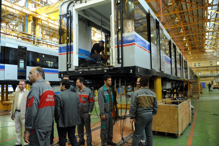 كارخانه ساخت واگن هاي مترو