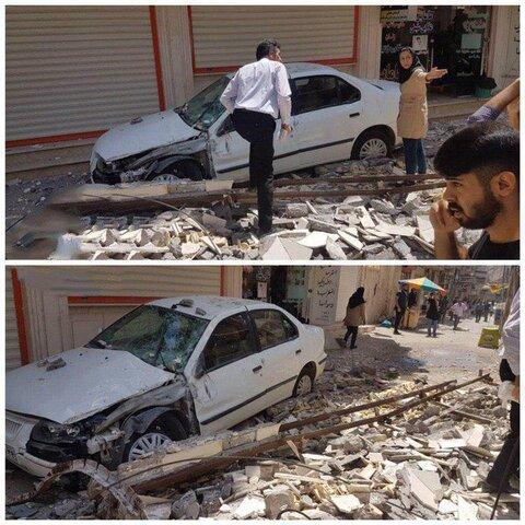 گزارشهای اولیه از فرو ریختن برخی دیوارها   تصاویر اولیه از خسارتهای وارده زلزله مسجد سلیمان