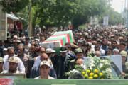 تشییع پیکر شهید احمدی در قروه