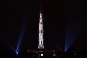 عکس روز: موشک روی یادمان واشنگتن