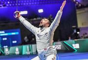 شمشیربازی قهرمانی جهان؛ باارزشترین مدال تاریخ شمشیربازی ایران بر سینه عابدینی