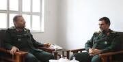 فرمانده نیروی دریایی سپاه با سردار  رئیس سازمان بسیج مستضعفین دیدار کرد