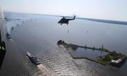 عکس روز: بالگرد روسی در روز نیروی دریایی