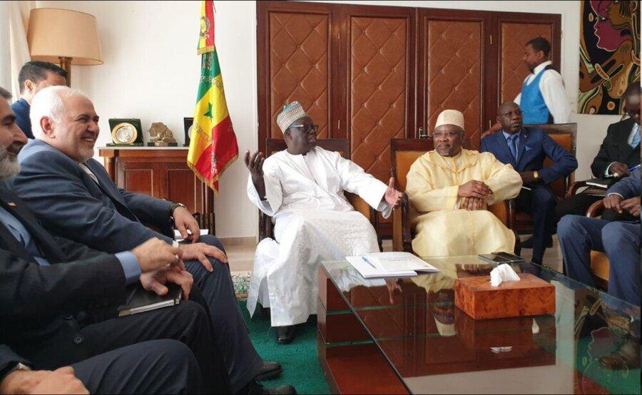رایزنی ظریف با رییس مجلس سنگال