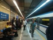 حریق حرکت قطارها در خط ۳ مترو در ایستگاه نوبنیاد را متوقف کرد