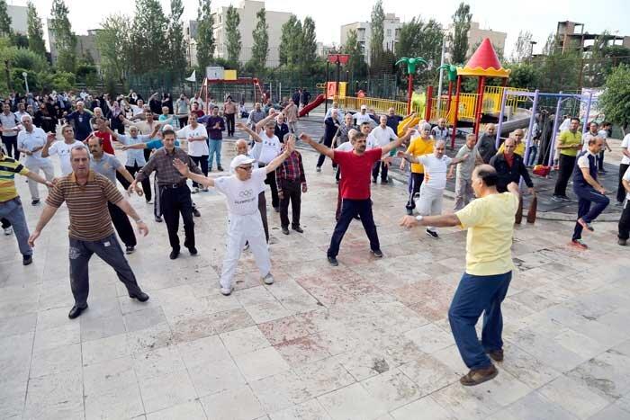ورزش در پارک