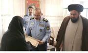 امیر نصیرزاده با مادر سرباز شهید زیردآبی آذر دیدار کرد