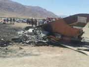 سقوط یک فروند هواپیمای نظامی در ساحل تنگستان | سرنشینها سالم هستند