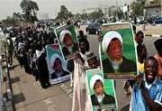 ادامه تحصن برابر سفارت نیجریه در لندن در حمایت از شیخ زکزاکی