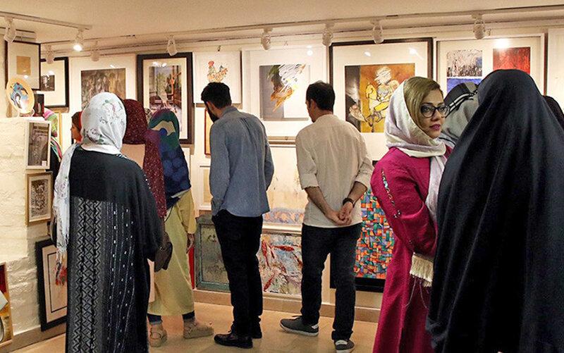 افتتاح نمايشگاه صد اثر صد هنرمند در گلستان