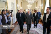 دیدار رییس مجلس شورای اسلامی با محمد جواد ظریف