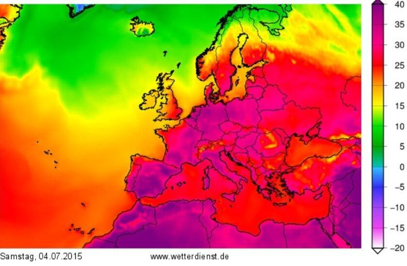 گرماي هوا در اروپا