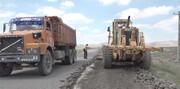 رد تخریب کامیونها بر جادههای نمین